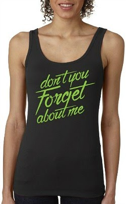 """Don't You Forget About Me"" ladies 80s fitness vest top"