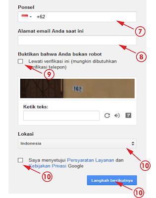 Langkah Ke-dua Membuat Gmail