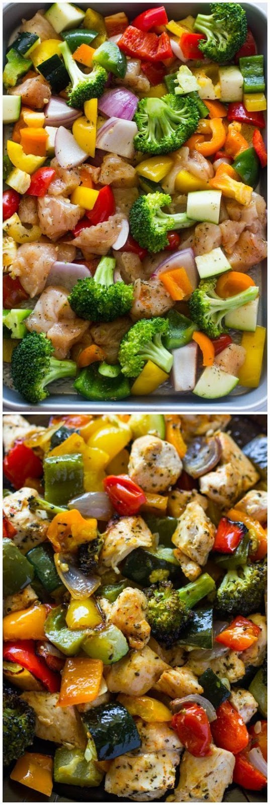 15 Minute Healthy Roasted Chicken and Veggies - Chicken Recipes
