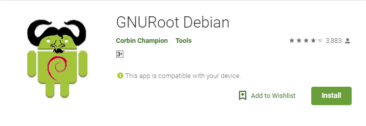 Install GNURoot from the Google Play Store
