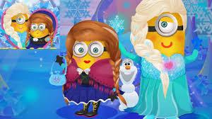 Gambar Frozen Minion Lucu Elsa Anna Olaf Minions