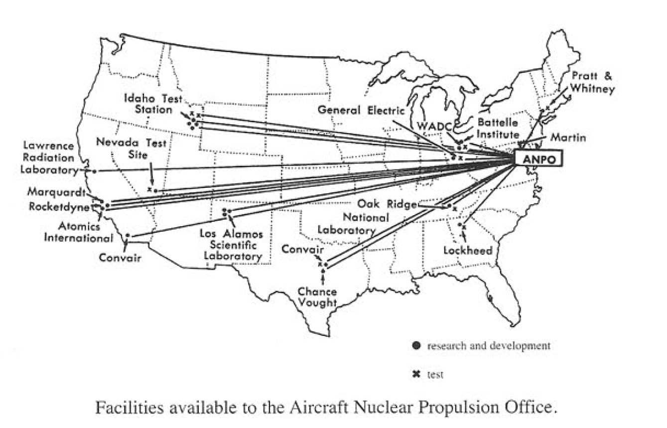 Area 51 Is The Home Of Americas Nuclear Aero Space Program 2016 Ufo Engine Diagram Sightings Were Clustered Around Anp Research Sites