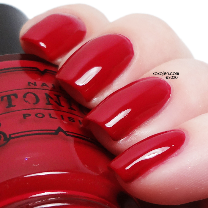 xoxoJen's swatch of Tonic Crimson