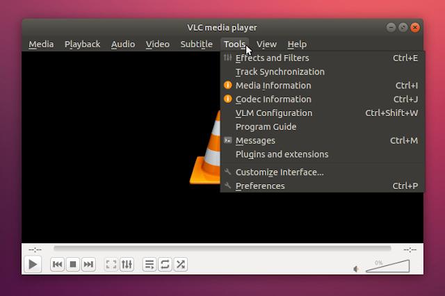 vlc qt5 gtk+ style Ubuntu 18.04