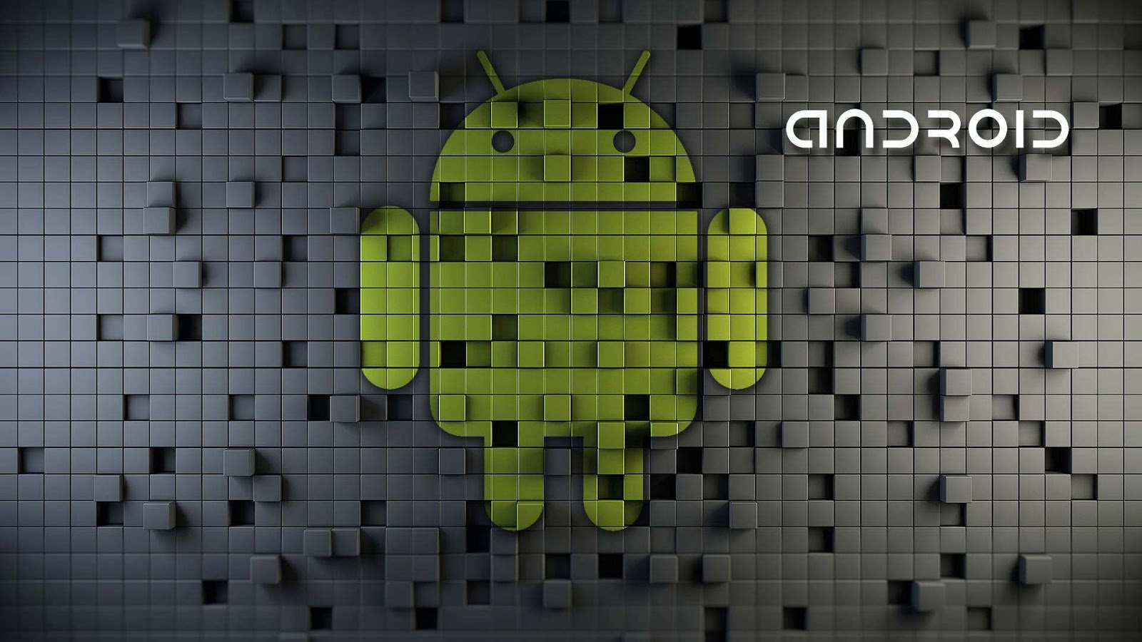 Android Logo and Text at Blocks Design