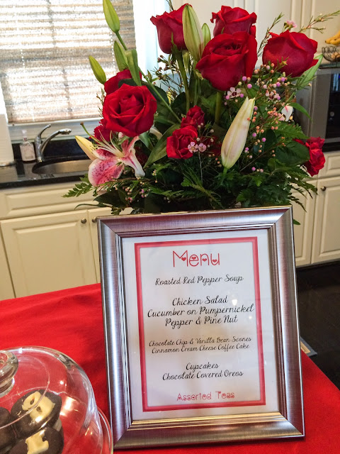 tea party menu valentine day lifestyle blogger fashion after 40