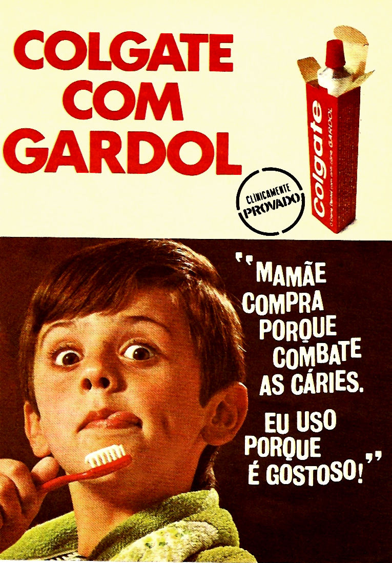 Propaganda antiga do Colgate veiculada no começo dos anos 70