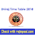 Uniraj Time Table 2018  Rajasthan University UG PG Exam Date
