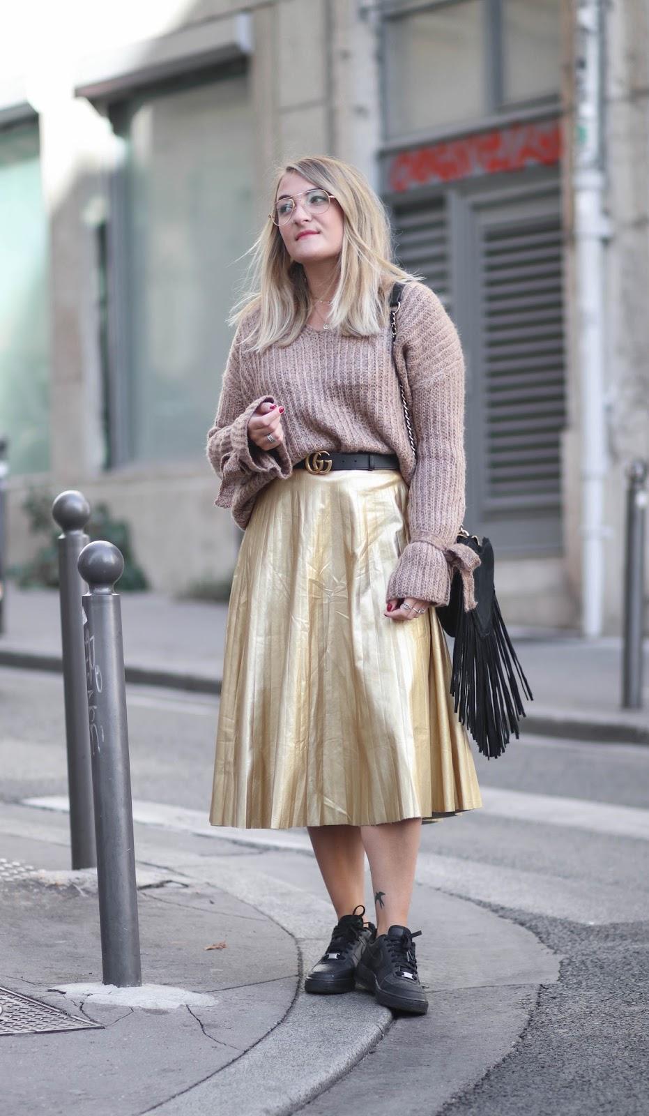 jupe dorée plisée jubylee parisgrenoble