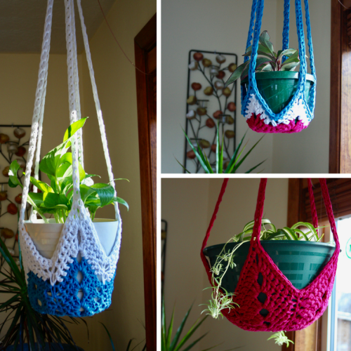 Never-ending Star Plant Hangers - Free Pattern