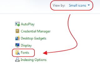 Folder font