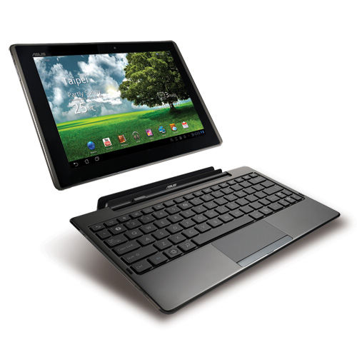 Asus Transformer TF101 Specifications - LAUNCH Announced 2011, January  Tablet with no support for GSM voice communication, SMS, and MMS. This is not a GSM device, it will not work on any GSM network worldwide DISPLAY Type LED-backlit IPS LCD, capacitive touchscreen Size 10.1 inches (~63.8% screen-to-body ratio) Resolution 1280 x 800 pixels (~149 ppi pixel density) Multitouch Yes Protection Scratch-resistant glass  - ASUS Waveshare UI BODY Dimensions 271 x 171 x 13 mm (10.67 x 6.73 x 0.51 in) Weight 680 g (1.50 lb) SIM No PLATFORM OS Android OS, v3.0 (Honeycomb), v3.2 (Honeycomb), upgradable to v4.0 (Ice Cream Sandwich) CPU Dual-core 1.0 GHz Cortex-A9 Chipset Nvidia Tegra 2 T20 GPU ULP GeForce MEMORY Card slot microSD, up to 32 GB (dedicated slot) Internal 16/32 GB, 1 GB RAM CAMERA Primary 5 MP, autofocus Secondary 1.2 MP Features Geo-tagging Video Yes NETWORK Technology No cellular connectivity 2G bands N/A GPRS No EDGE No COMMS WLAN Wi-Fi 802.11b/g/n GPS Yes, with A-GPS USB v2.0 Radio No Bluetooth v2.1, A2DP, EDR FEATURES Sensors Accelerometer, gyro, compass Messaging Email, Push Email, IM Browser HTML, Adobe Flash Java Yes, via Java MIDP emulator   SOUND Alert types Vibration; MP3, WAV ringtones Loudspeaker Yes, with stereo speakers 3.5mm jack Yes Features - SRS audio BATTERY  Non-removable Li-Po battery (24.4 Wh) Stand-by  Talk time Up to 9 h 30 min (multimedia) Music play  MISC Colors Black  - mini HDMI port - MP3/MP4 player - Polaris Office 3.0 editor  - Organizer - Predictive text input