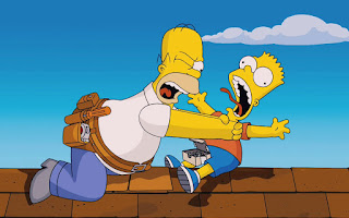 Papá Homero y su hijo Bart