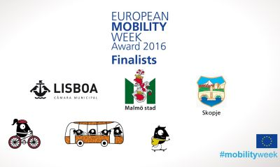 Lisbon, Malmö and Skopje announced as sustainable mobility city finalists