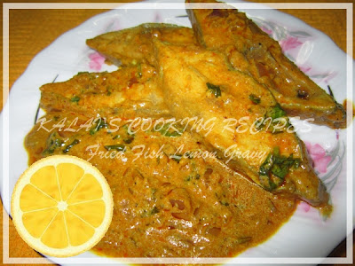 Fried Pomfret Fish Lemon Gravy