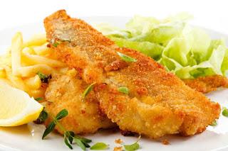كيفية عمل السمك الفيليه المقرمش بطريقة المطاعم