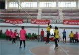 Pertandingan Bola Volly Tingkatkan Silaturahmi Persit KCK Koorcab Rem 022 PD I/BB