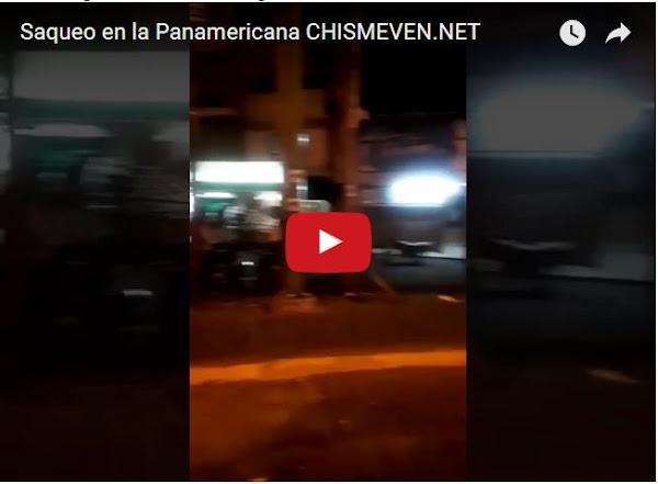 Saquearon un supermercado en la Panamericana