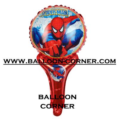 Balon Foil Raket Karakter Spiderman