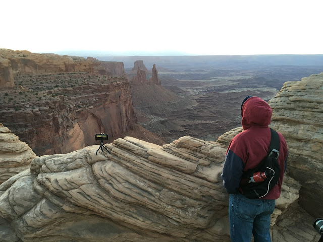 Ben looking out over Canyonlands