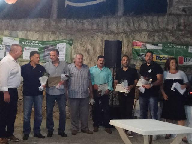 Πέργαμος: Βραβεύθηκαν οι παλαίμαχοι