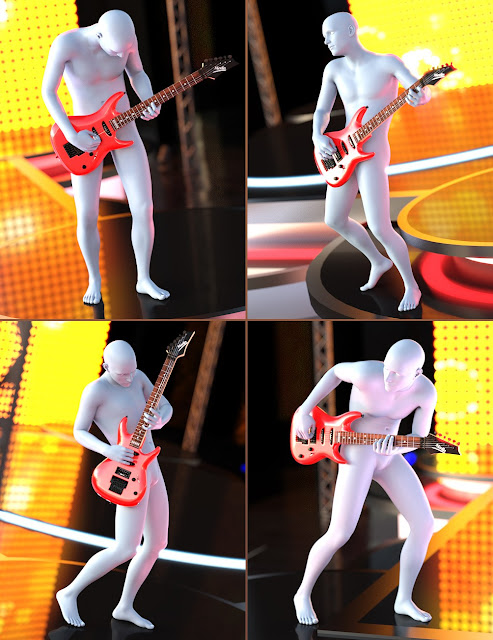 Rock Star Poses for Genesis 3 Males