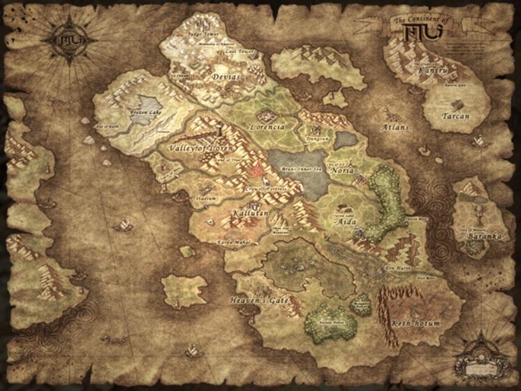 Bản đồ trong mu online