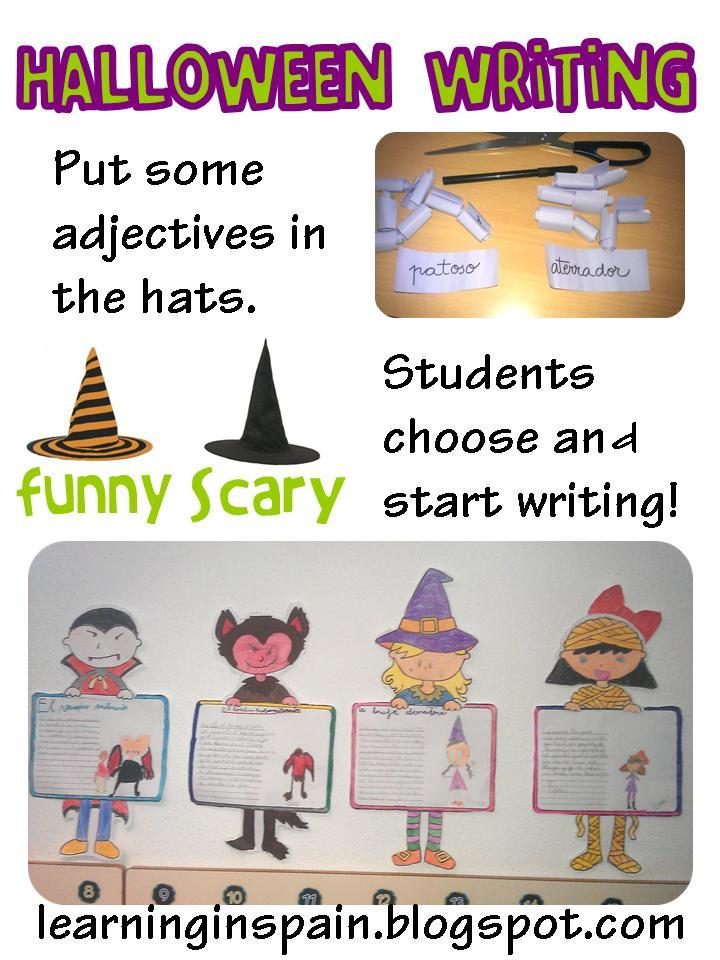 halloween writing and the triplets learning in spain today we finished our halloween writing craftivity it was a big hit my students love having different options in their assignments