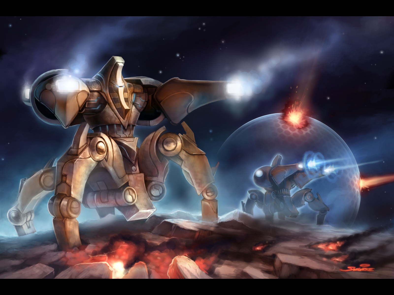 protoss immortal Hd Wallpapers Starcraft 2