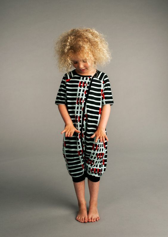 Black and White Stripes Overall Image 25