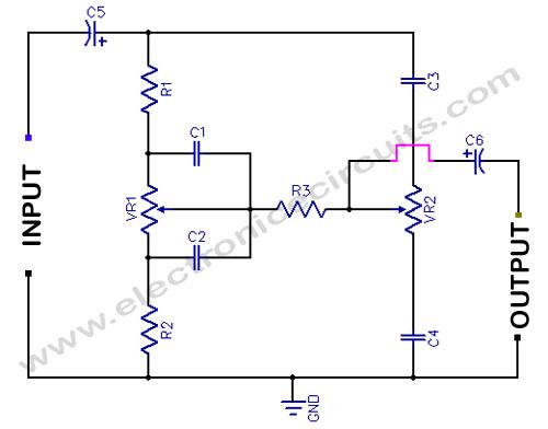 digital tone control with max5406 schematic diagram