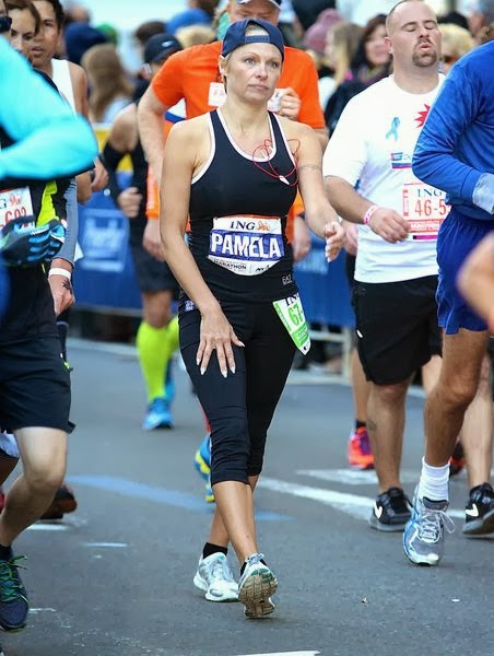 Pamela Anderson ran a marathon with his brother