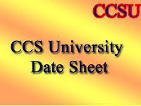 CCS University Exam Scheme 2016 - 2017
