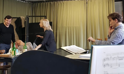 Staging rehearsal of Puccini's La Boheme - Victoria Stevens at Nationaltheater Mannheim (with conductor Alexander Soddy