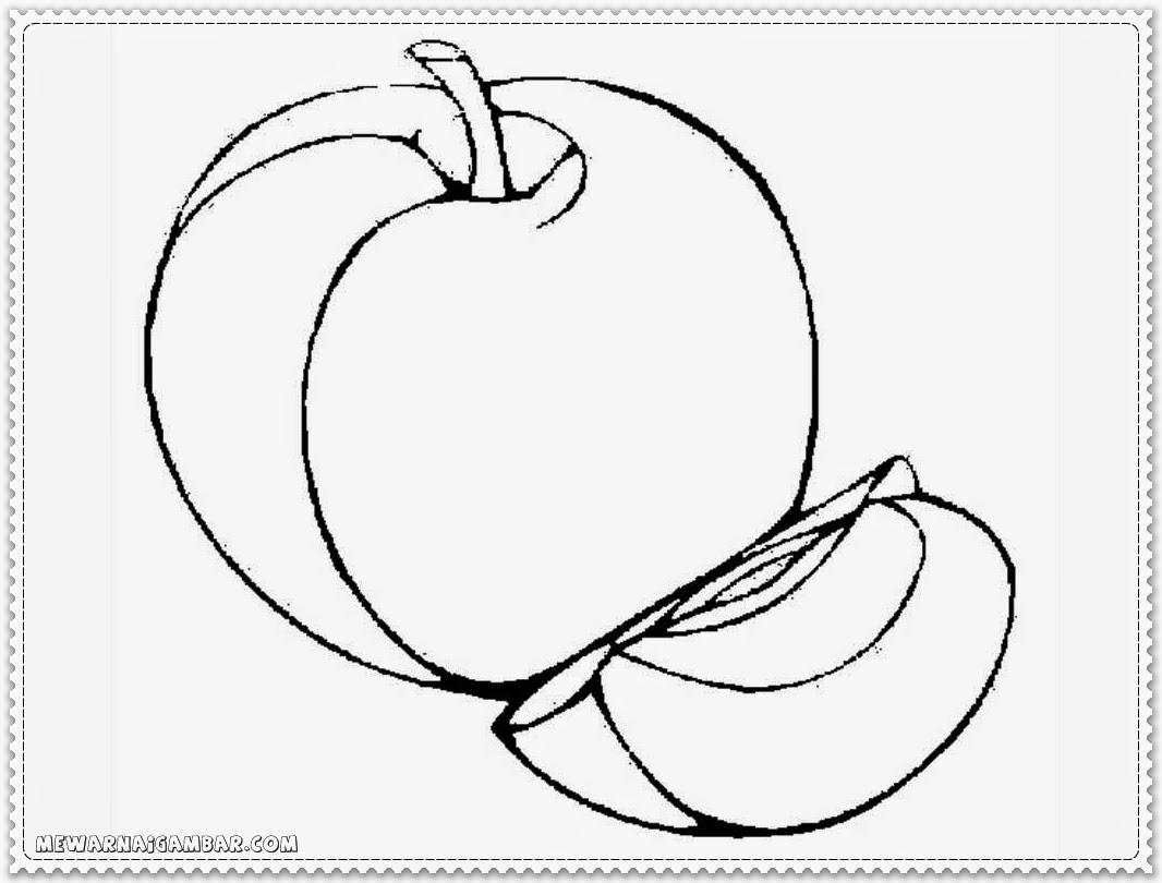 apple coloring sheets free