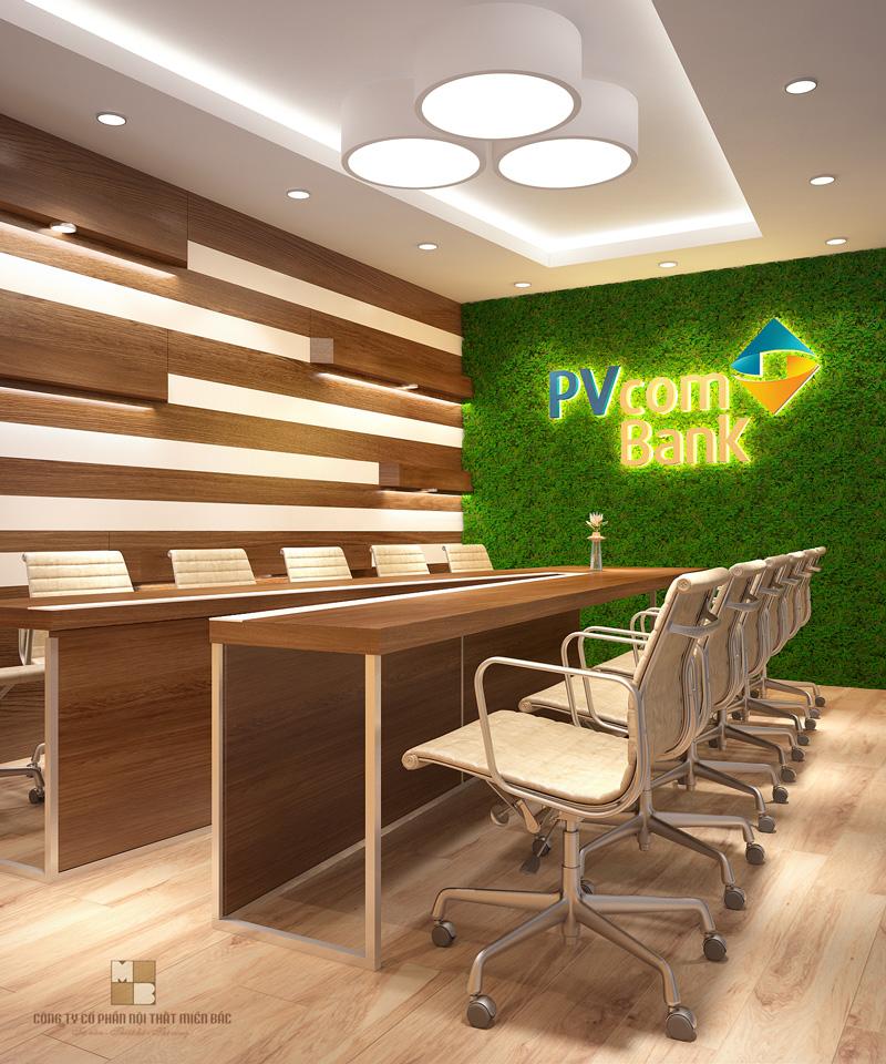 Thiết kế nội thất phòng họp sở hữu một tone màu sáng, ấn tượng sẽ mang đến cho không gian sự sang trọng, cuốn hút