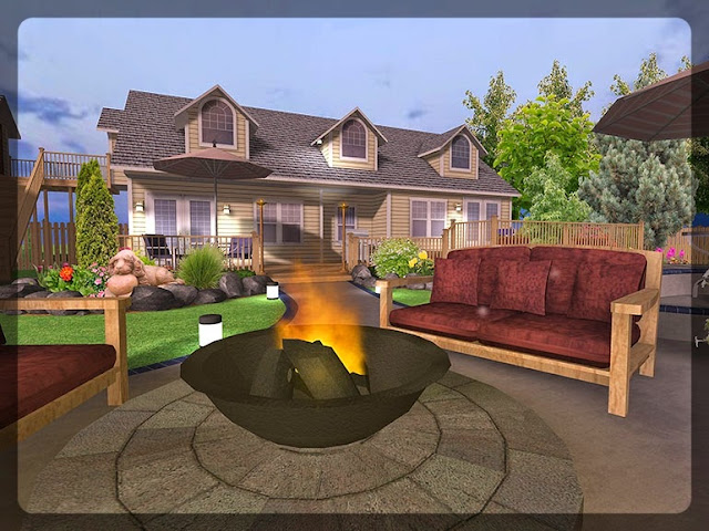 3D Plan Home Garden Design Ideas 5