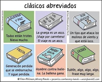 Meme de humor sobre clásicos de la literatura