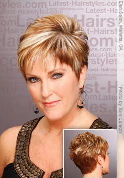 short hair styles women 50 via Angel-Wings