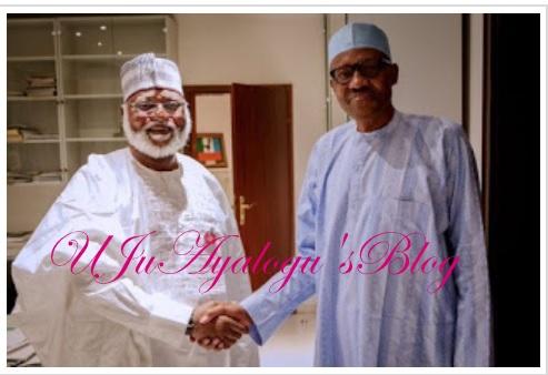 Abdulsalami Abubakar, Buhari meet in Aso rock