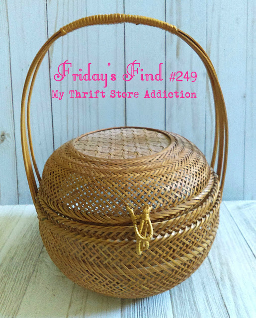 thrift store vintage basket