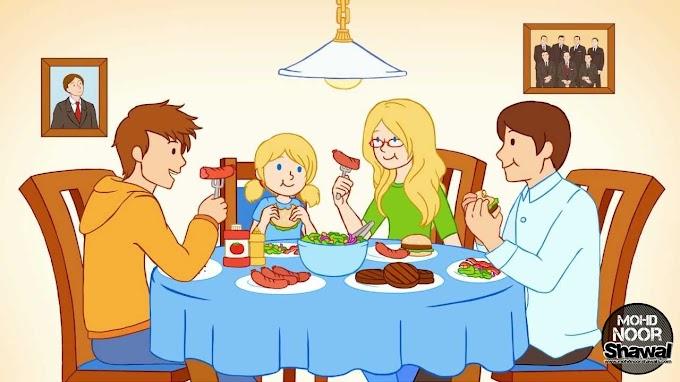 Adab Bergambar Ketika Makan