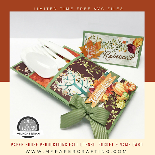 FREE SVG & DISCOUNT! Paper House Fall Utensil & Place Card Set