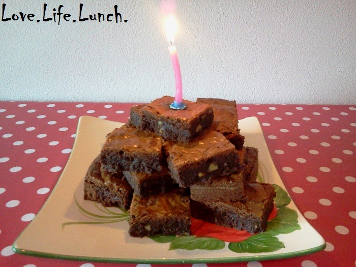 Brownies di compleanno!