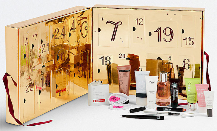 Spoilers and contents of the Selfridges Beauty Workshop Advent Calendar for 2017.