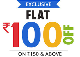 Ebay Rs. 100 off on Rs. 150
