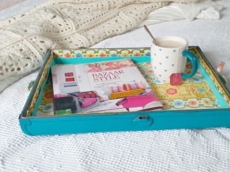 Upcycled Suitcase Tray