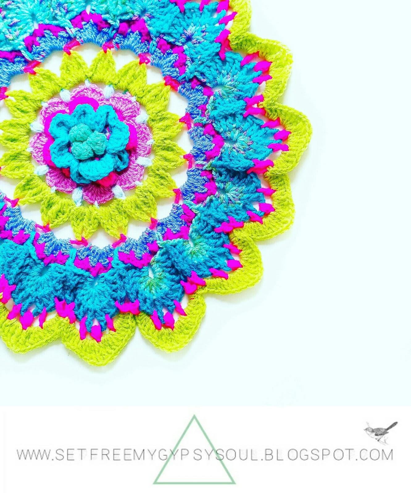 flower mandala crochet pattern free bohemian home boho interior doily