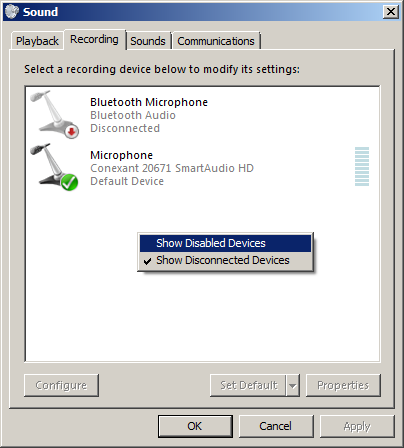 DRIVERS: CONEXANT 20672 MICROPHONE