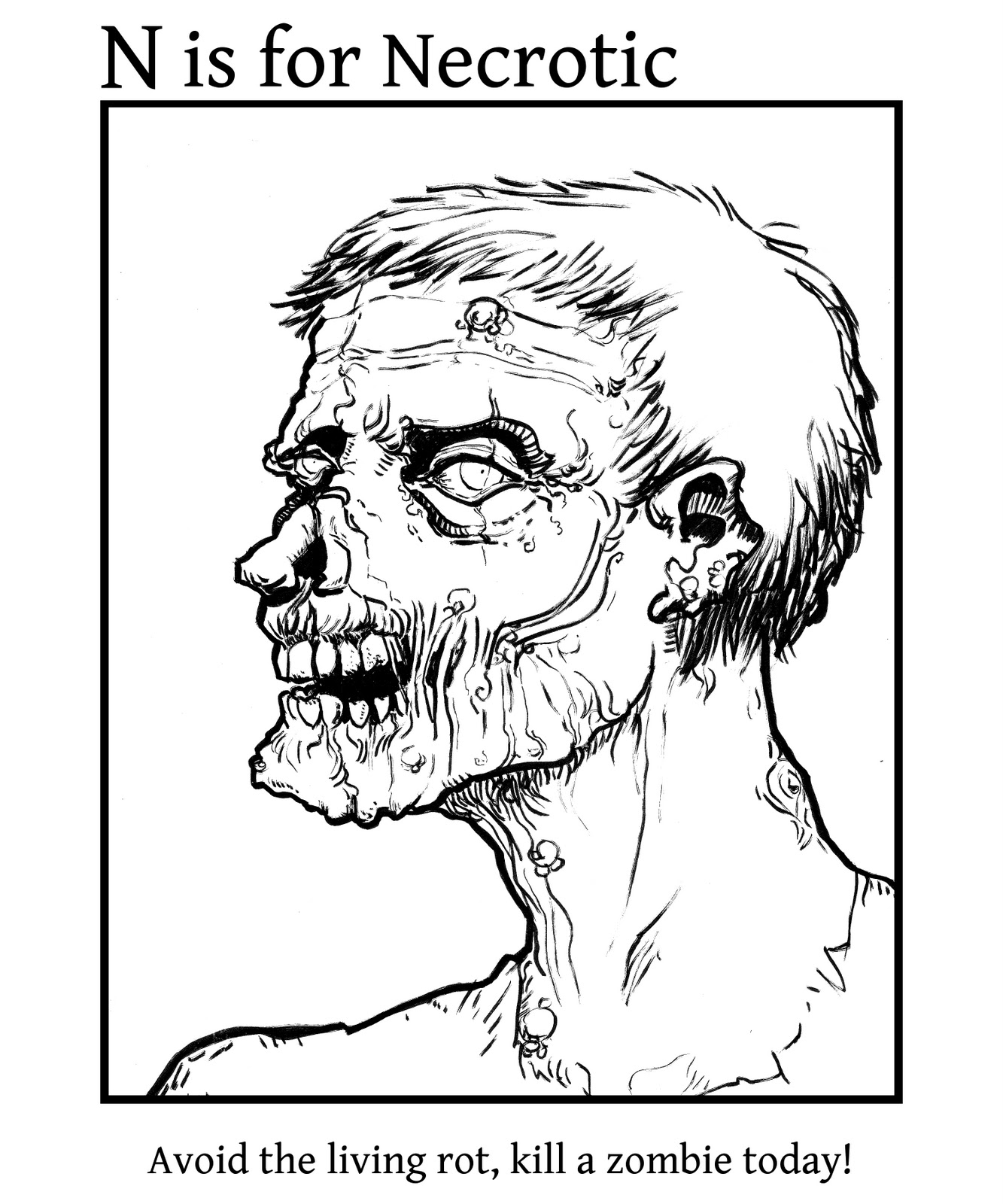 Coloring Picture Zombie Free Printable Zombies Pages For